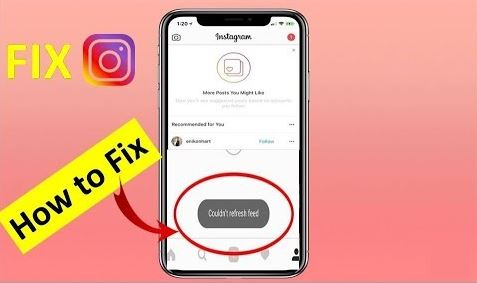 Possible Reason for Instagram Couldn't Refresh Feed Error.