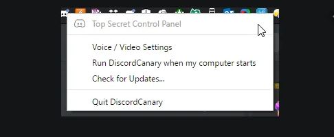 Why is Discord Top Secret Panel Disabled?