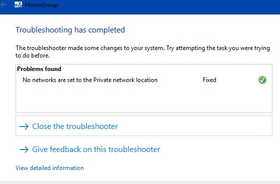 Windows in-built Troubleshooter