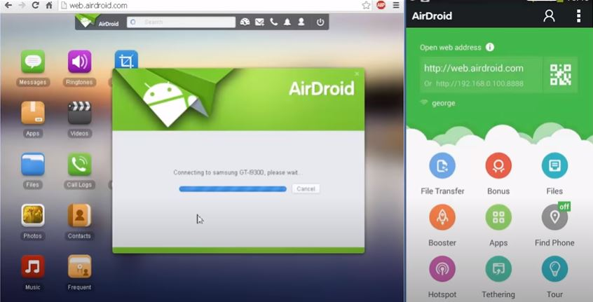 Airdroid (Wifi / Mobile Data Required) – Cast Android Screen to PC
