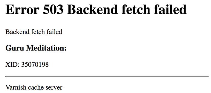 Why You Get the 503 Backend Fetch Error.
