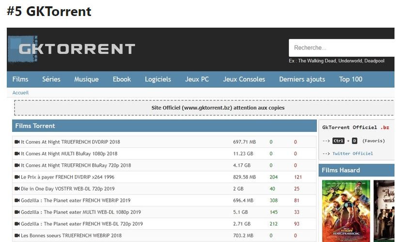 GK Torrents - Best Cpasbien alternatives