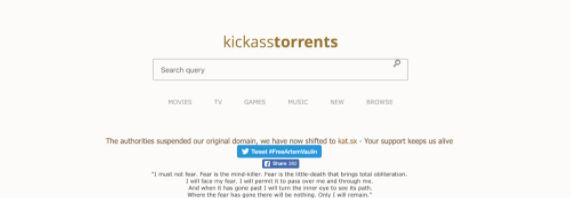 Kickass Torrent - Best Cpasbien alternatives