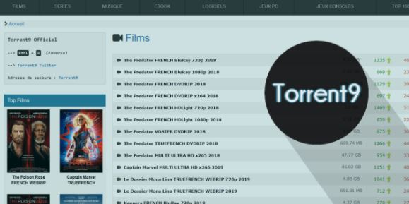 Torrent 9 - Best Cpasbien alternatives